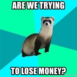 Obvious Question Ferret - ARE WE TRYING TO LOSE MONEY?