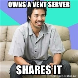 Nice Gamer Gary - Owns a vent server shares it