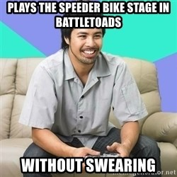 Nice Gamer Gary - plays the speeder bike stage in battletoads without swearing