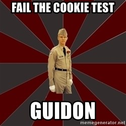 Stereotypical Corps Guy - fail the cookie test guidon