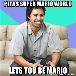 Nice Gamer Gary - Plays super mario world lets you be mario