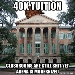Scumbag College - 40K tuition classrooms are still shit yet arena is modernized