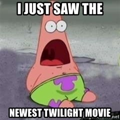 D Face Patrick - I just saw the newest twilight movie