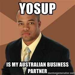 Successful Black Man - yosup is my australian business partner