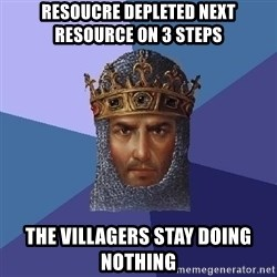 Age Of Empires - RESOUCRE DEPLETED NEXT RESOURCE ON 3 STEPS THE VILLAGERS STAY DOING NOTHING
