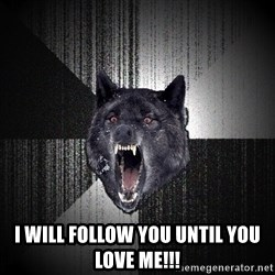 Insanity Wolf - i will FOLLOW YOU UNTIL YOU LOVE ME!!!