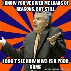 Befuddled Bruce - I know you've given me loads of reasons, but still I don't see how MW3 is a poor game
