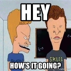 Beavis and butthead - Hey How's it going?