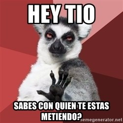 Chill Out Lemur - HEY TIO  SABES CON QUIEN TE ESTAS METIENDO?