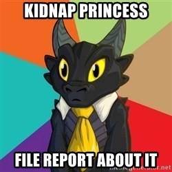 Business Dragon - Kidnap princess File report about it