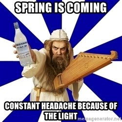 FinnishProblems - SPRING IS COMING CONSTANT HEADACHE BECAUSE OF THE LIGHT