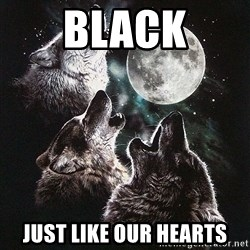 Lone Wolf Pack - Black just like our hearts