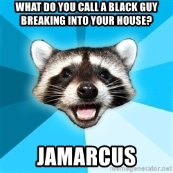 Lame Pun Coon - what do you call a black guy breaking into your house? jamarcus