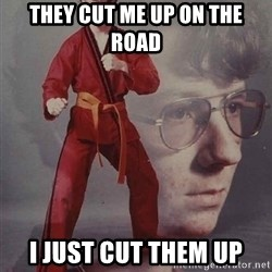 PTSD Karate Kyle - They cut me up on the road I just cut them up
