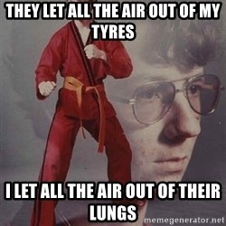 PTSD Karate Kyle - they let all the air out of my tyres i let all the air out of their lungs