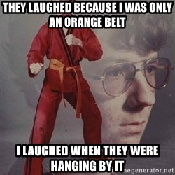 PTSD Karate Kyle - they laughed because i was only an orange belt i laughed when they were hanging by it