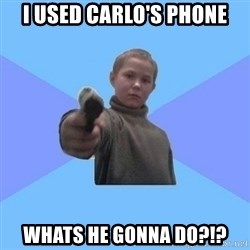 Gangster Matvey - i used carlo's phone whats he gonna do?!?