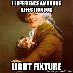 Joseph Ducreux - I experience amorous affection for Light Fixture