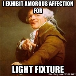 Joseph Ducreux - I exhibit amorous affection for Light Fixture