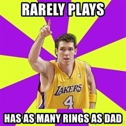 Lame Luke Walton - RARELY PLAYS Has As Many Rings as Dad