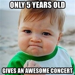 Victory Baby - ONLY 5 YEARS OLD GIVES AN AWESOME CONCERT