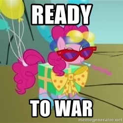 pinkie pie dragonshy - ready to war