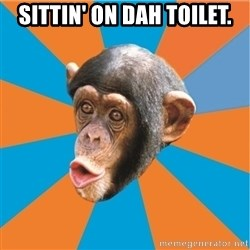 Stupid Monkey - SITTIN' ON DAH TOILET.