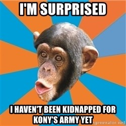 Stupid Monkey - i'm Surprised I haven't been kidnapped for kony's army Yet