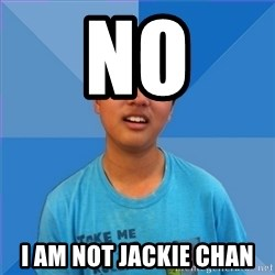 Dissapointed Peter - no I am not jackie chan
