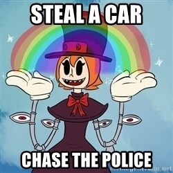 Asshole Peacock - STEAL A CAR CHASE THE POLICE