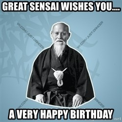 Street-sensei - Great sensai wishes you.... a very happy birthday