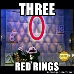 count von count - Three RED RINGS