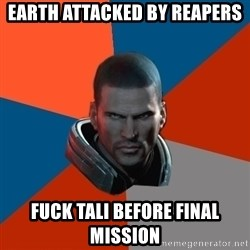 Shepard Says - Earth attacked by reapers Fuck tali before final missiOn