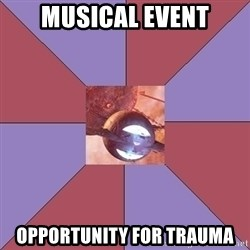 singularity - MUSICAL EVENT OPPORTUNITY FOR TRAUMA