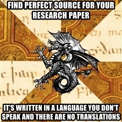 History Major Heraldic Beast - fIND PERFECT SOURCE FOR YOUR RESEARCH PAPER iT'S WRITTEN IN A LANGUAGE YOU DON'T SPEAK AND THERE ARE NO TRANSLATIONS