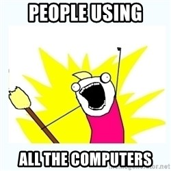 All the things - people using all the computers
