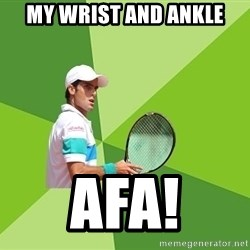 Tennisyst - my wrist and ankle afa!