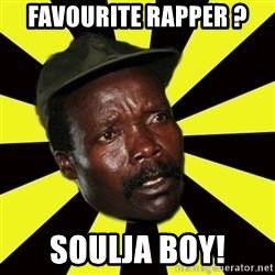 KONY THE PIMP - FAVOURITE RAPPER ? SOULJA BOY!