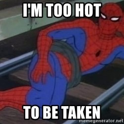 Spidey - i'm too hot to be taken