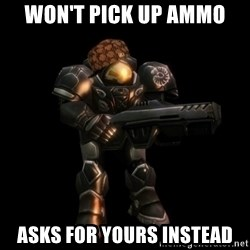 NOTD Noob - won't pick up ammo asks for yours instead