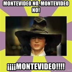 Harry Potter Sorting Hat - montevideo no, montevideo no! ¡¡¡¡MONTEVIDEO!!!!
