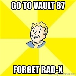 Fallout 3 - Go to vault 87 Forget Rad-X