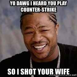 Yo Dawg - yo dawg i heard you play counter-strike so i shot your wife