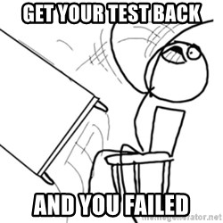 flip a table2 - get your test back and you failed