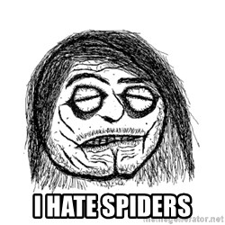 Shopes Face - i hate spiders