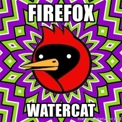Omsk Crow - Firefox watercat