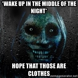 Real Horrifying House Guest - *wake up in the middle of the night* hope that those are clothes