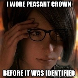 Hipster Leah - I wore peasant crown before it was identified