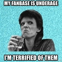 Disturbed Bowie - My fanbase is underage I'm terrified of them