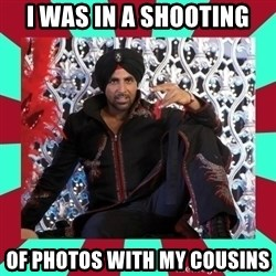Indian gangster wannabe - I was in a shooting of photos with my cousins